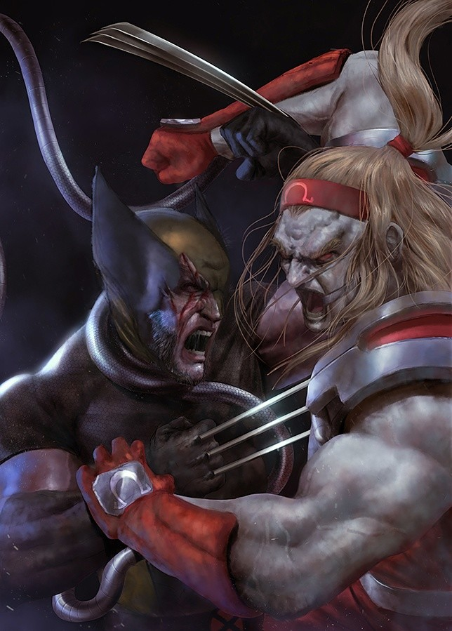 Omega Red VS Wolverine / Work in progress