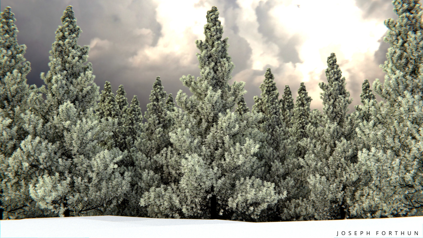 Creating Frosted Tree's in Blender