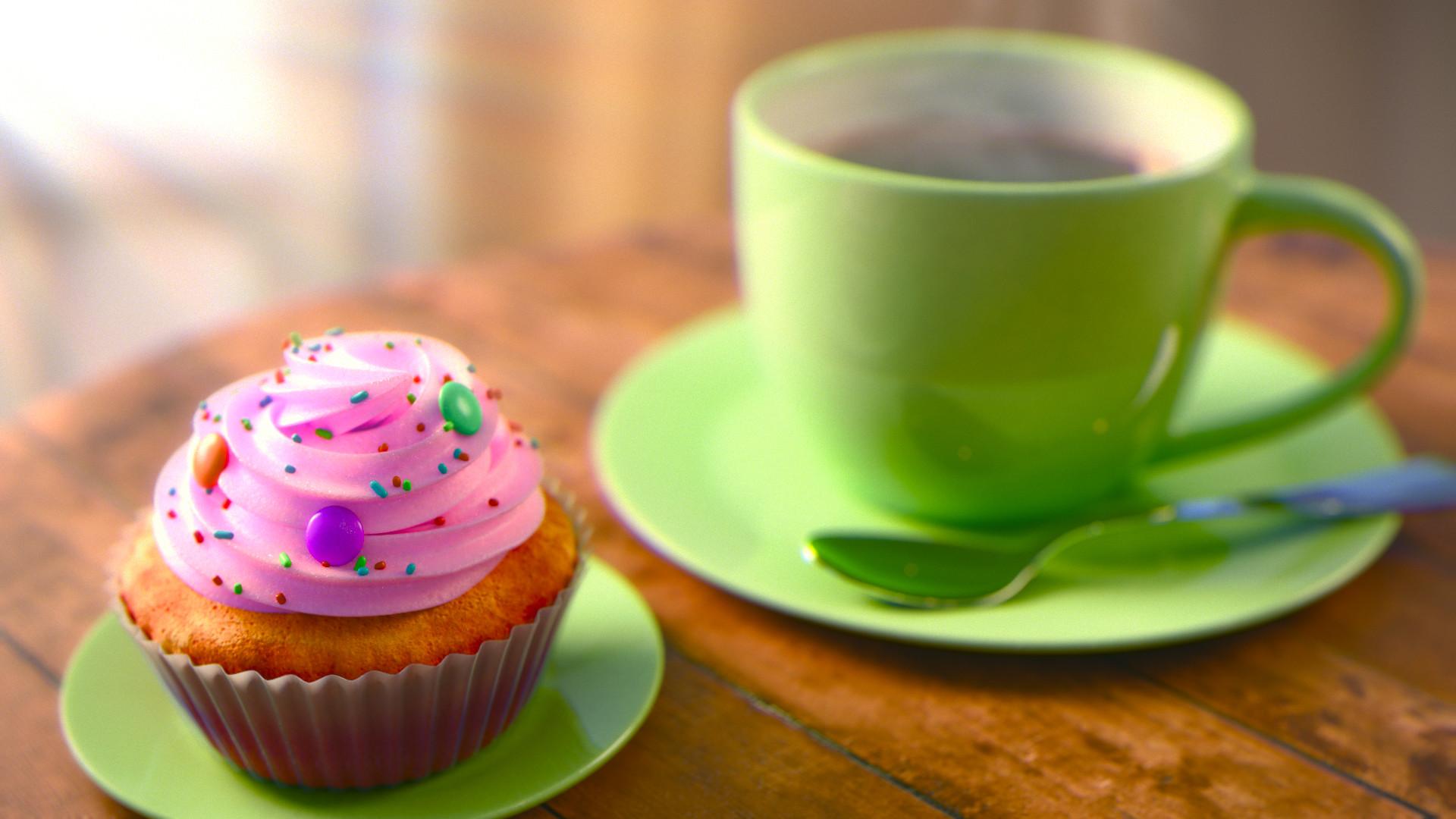 Картинка кофе и пироженки