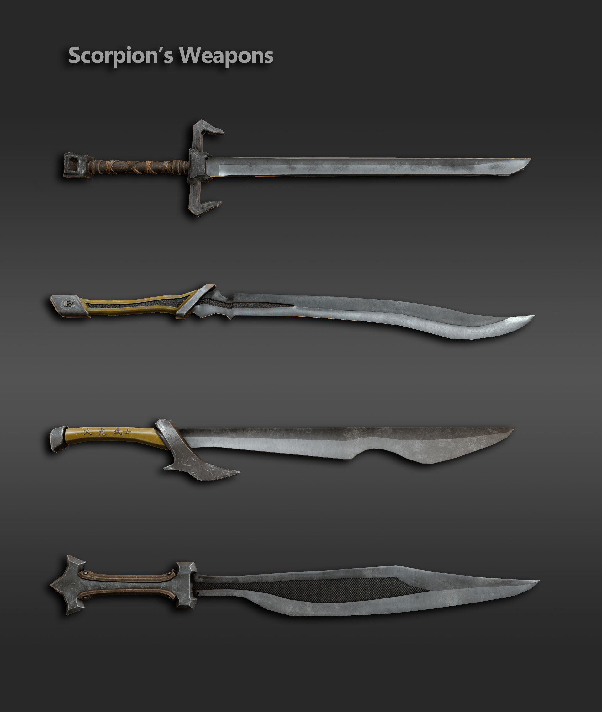 ArtStation - Scorpion's Weapons, Christopher Schroeder