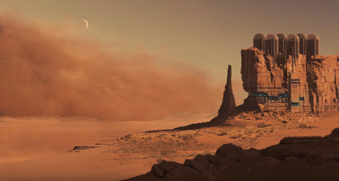 Concept : Station-07 prepare for sandStorm