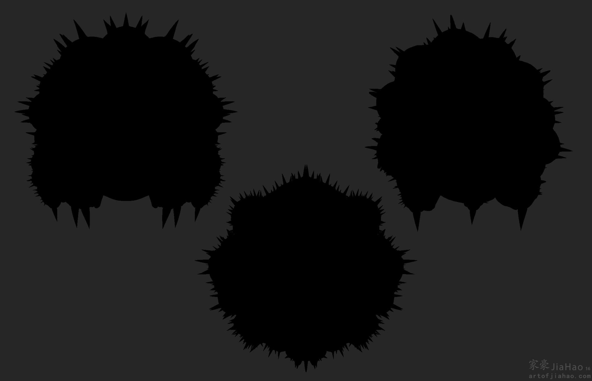 Jia hao 2016 09 spikycrabcreature poseddefensesilouhette