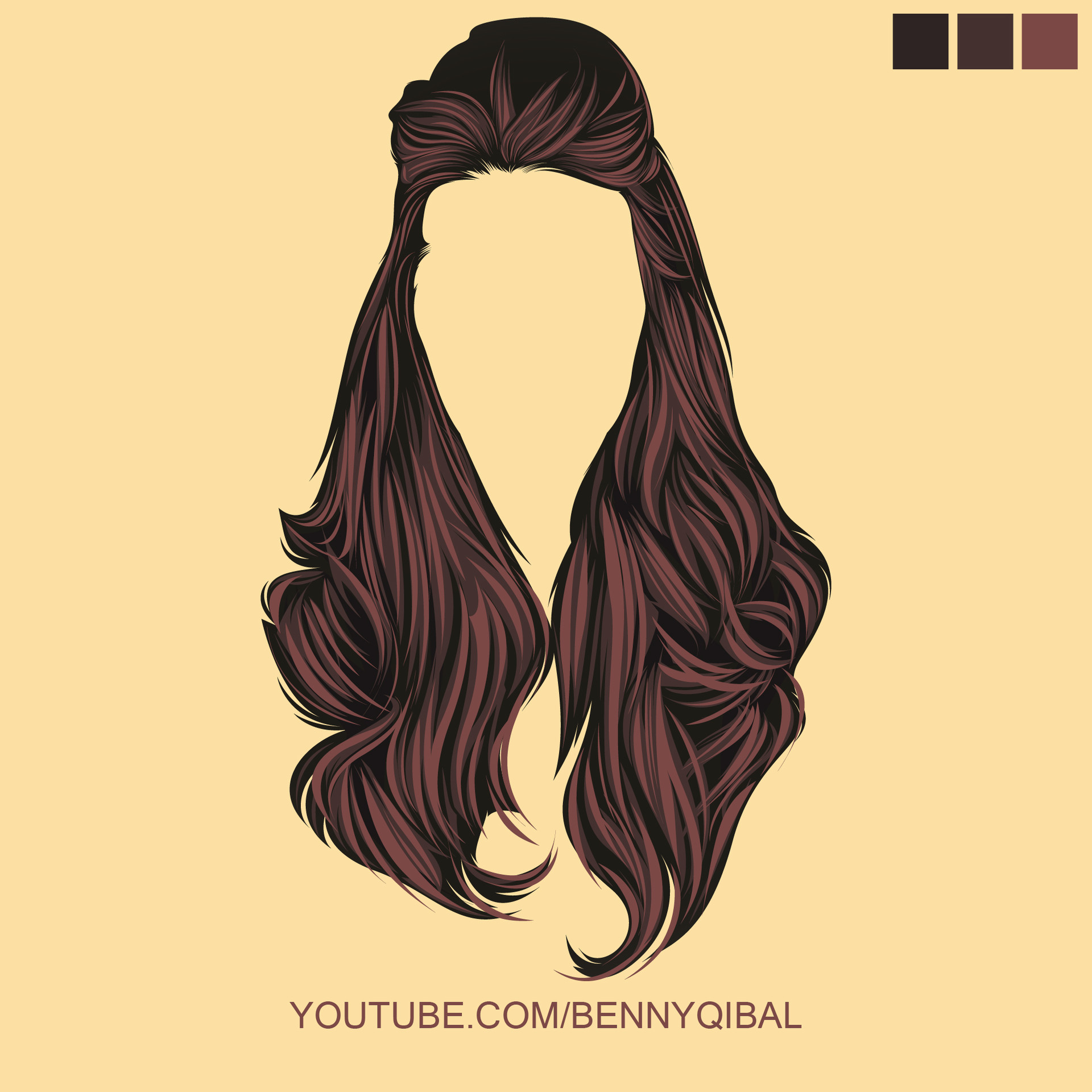 ArtStation - Draw Vector Hair Tutorial Illustrator, Benny ...