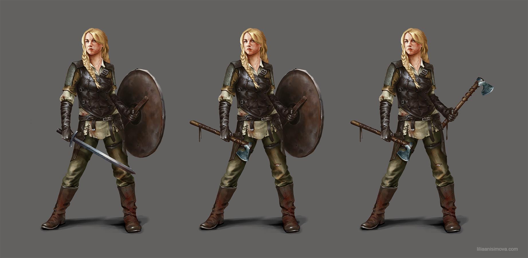 Artstation Shieldmaiden Concept Lilia Anisimova