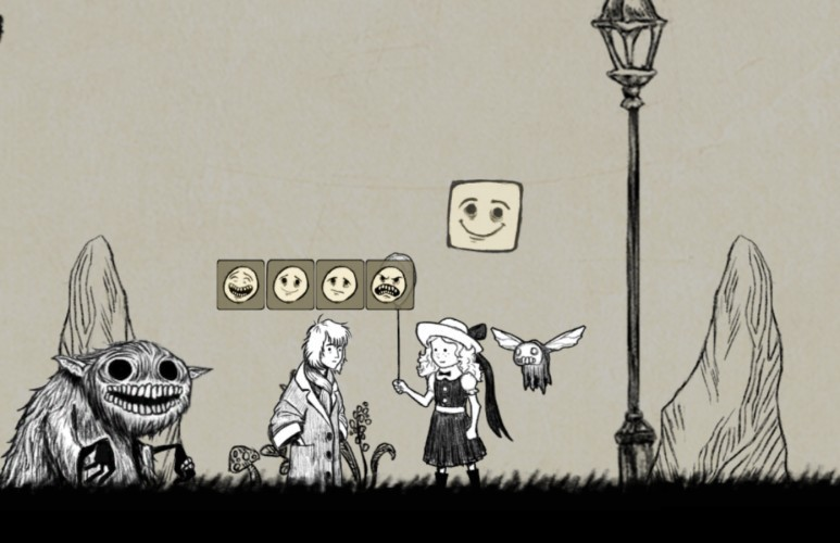 In-game screenshot. Environment by Laura Chan. Emoticons by Julie Martinez.