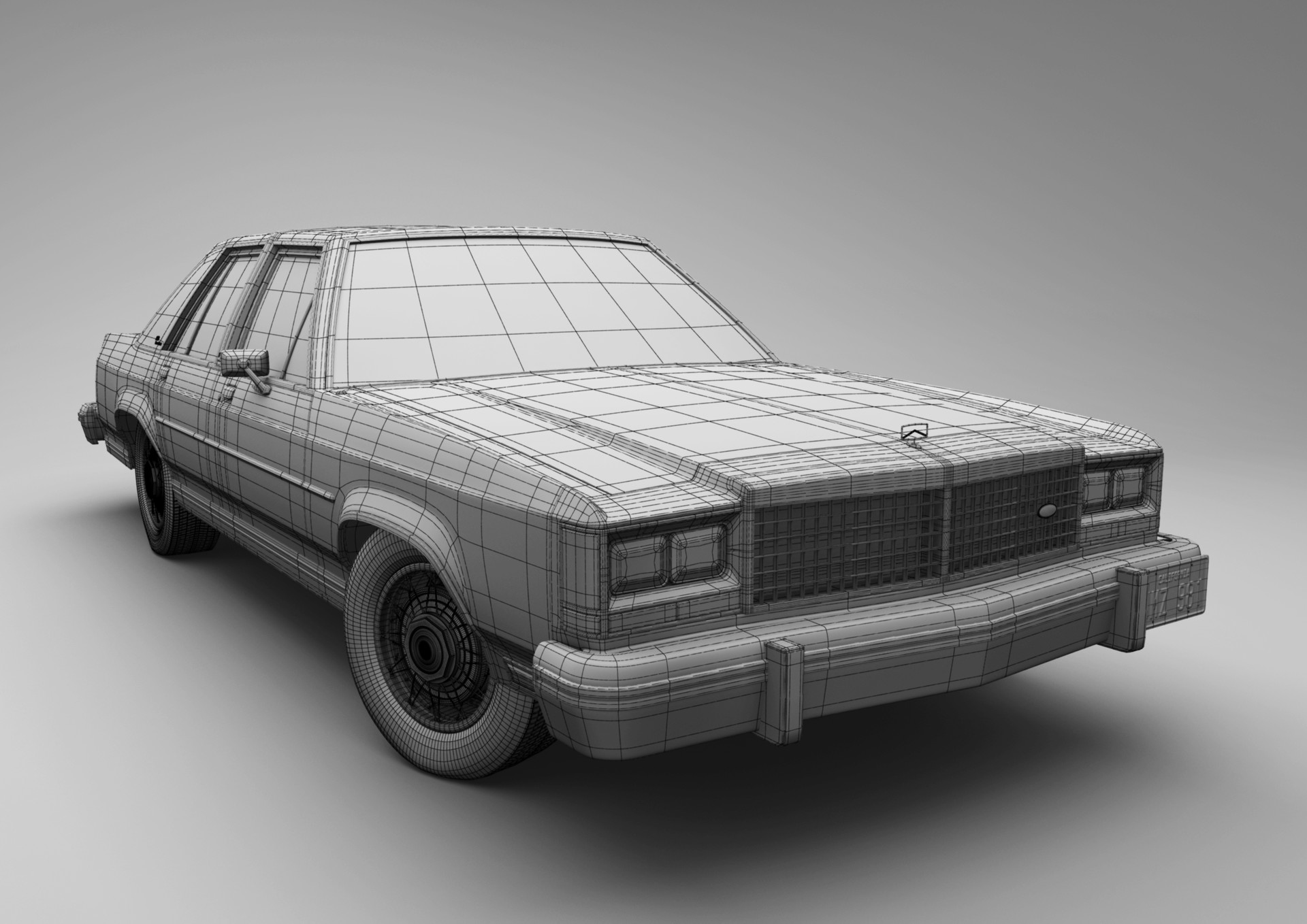 Artstation Ford Crown Victoria High Poly Car Olmo Potums 1980 Coupe Scroll To See More