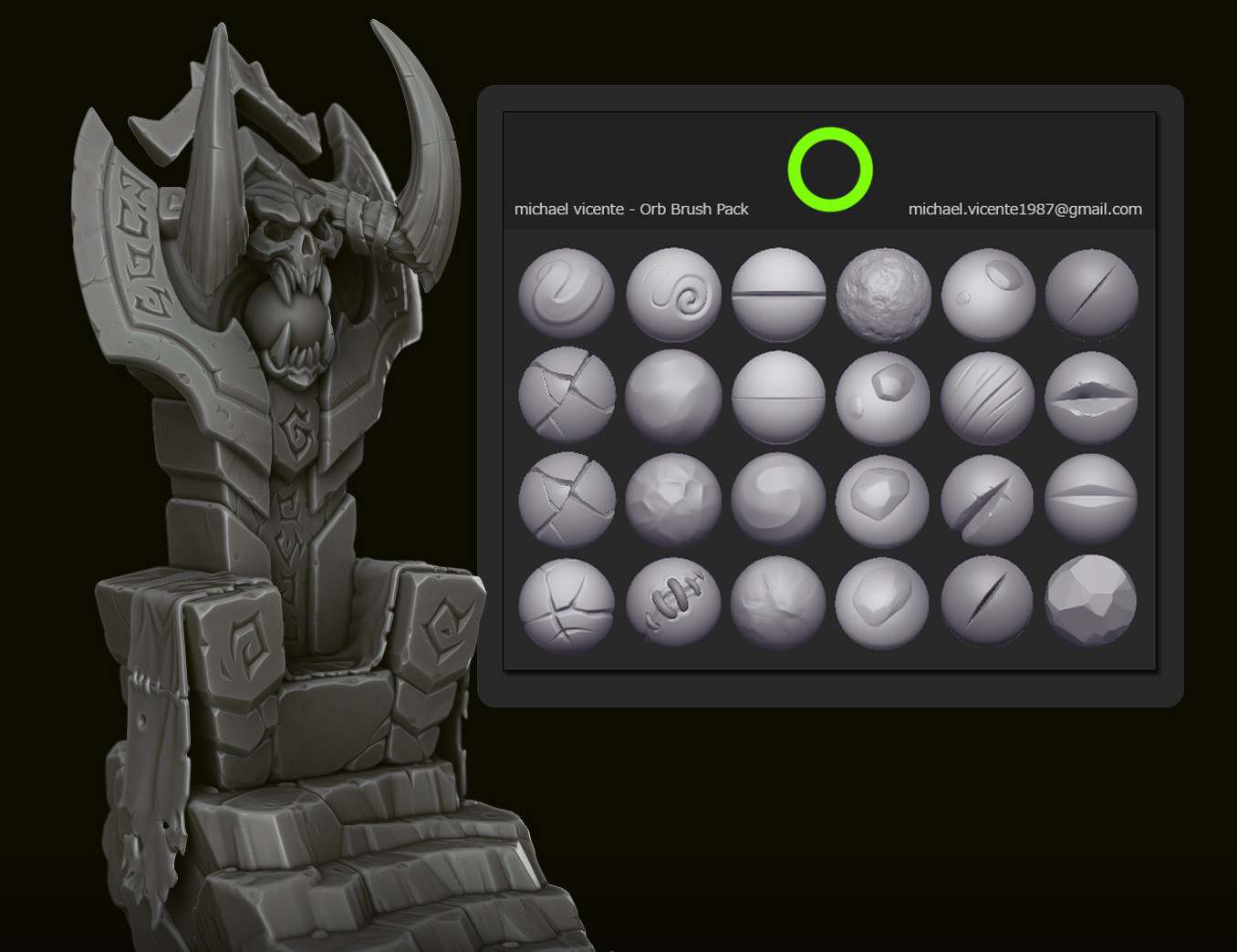 ArtStation - Orb Brush Pack, Michael vicente - Orb