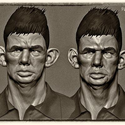 WIP 3D Sculpt of Dresie et Casie, Twins,  by Roger Ballen