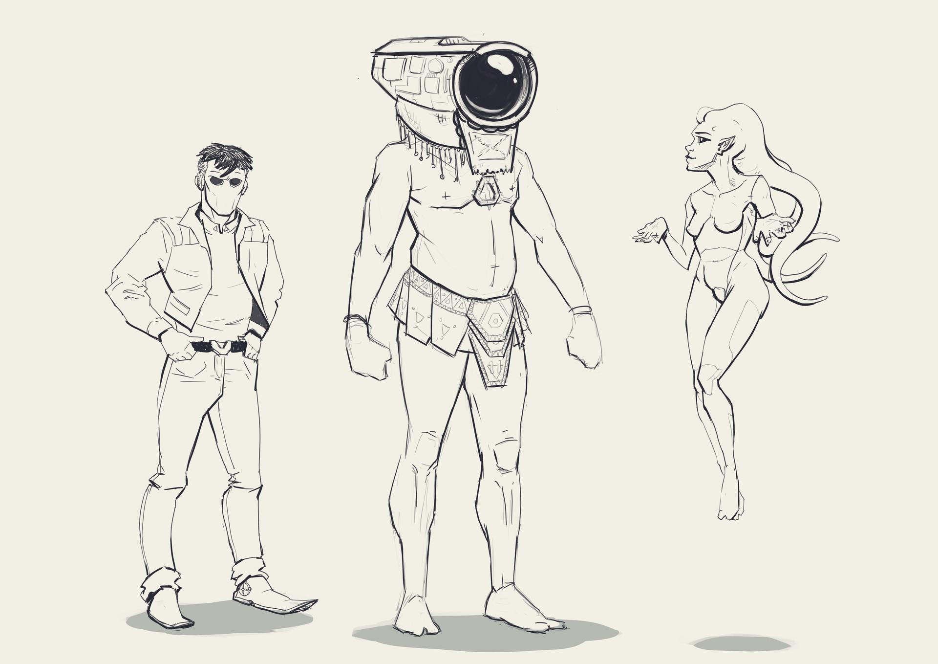 Jean philippe hugonnet 3 probots sketches
