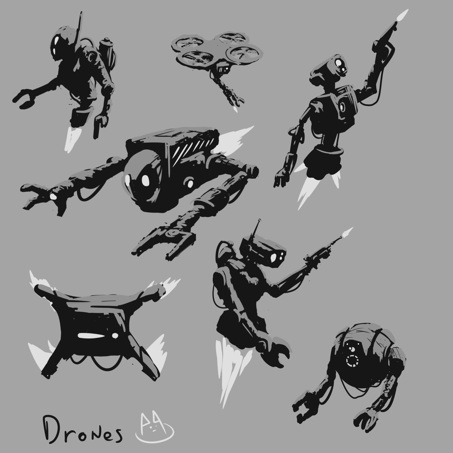 Art ankhn drones concepts artankhn
