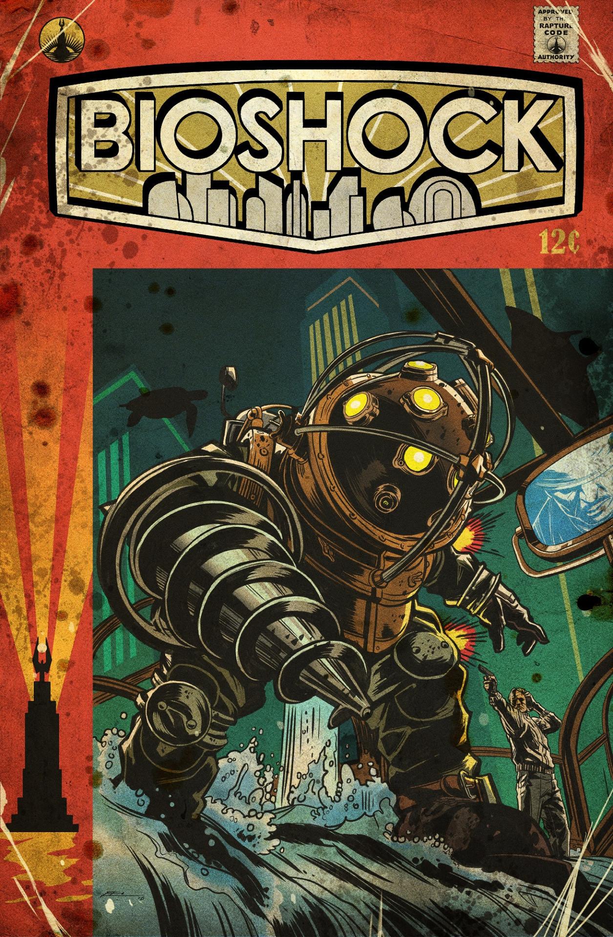 Comic Book Cover Artist Wanted : Artstation bioshock emilio lopez