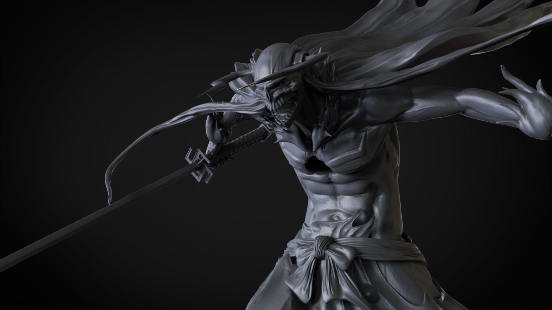 artstation vasto lorde ichigo collectible figure 3d sculpt
