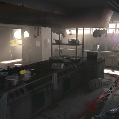 Simeon schaffner kitchen crimescene