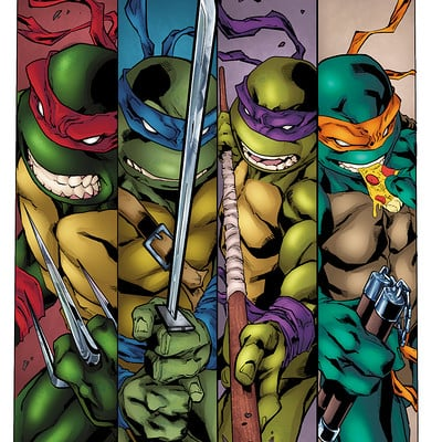 Matt james ninja turtles by mattjamescomicarts dalam9i