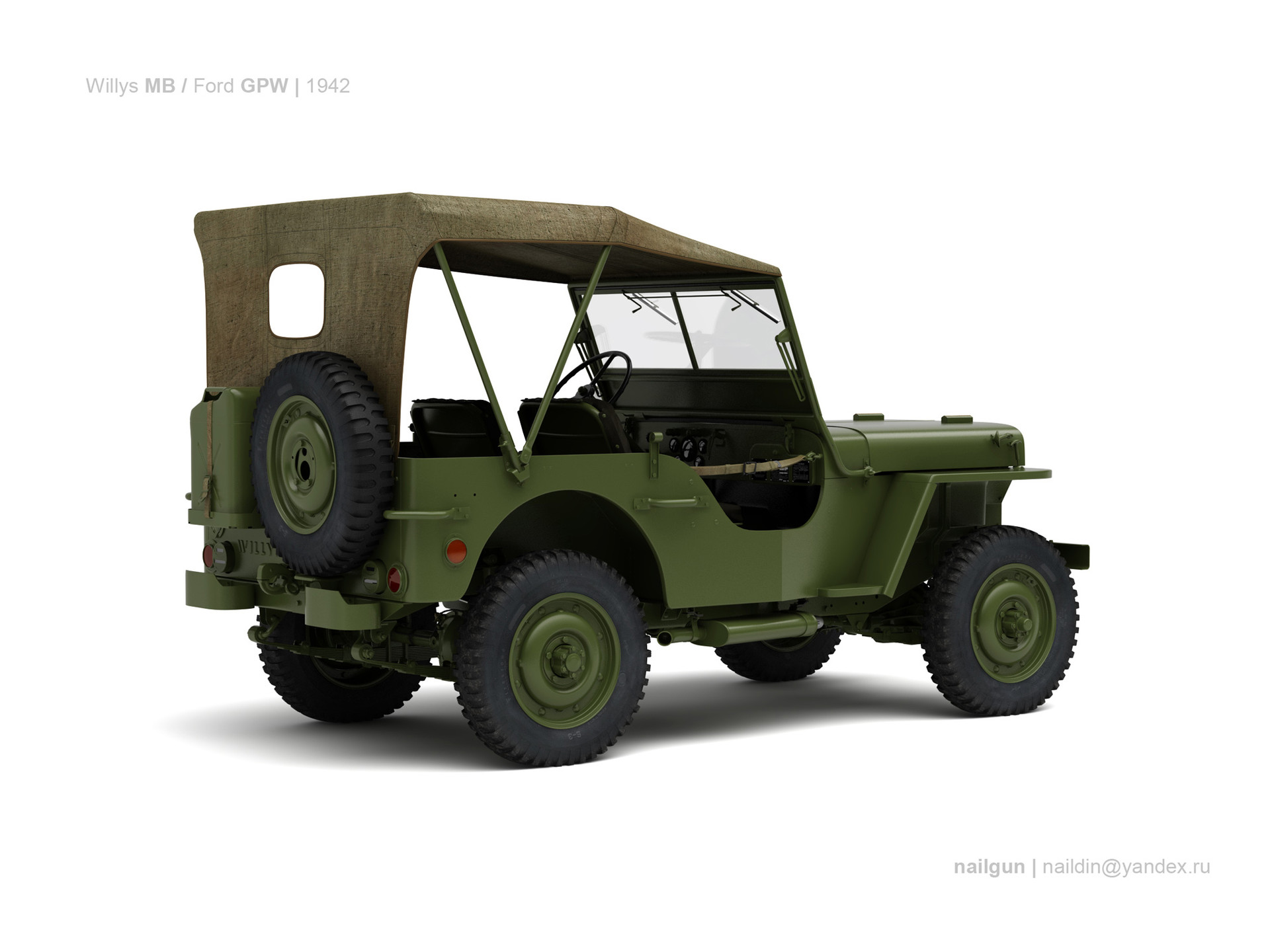 Nail khusnutdinov usa willys mb ford gpw 1