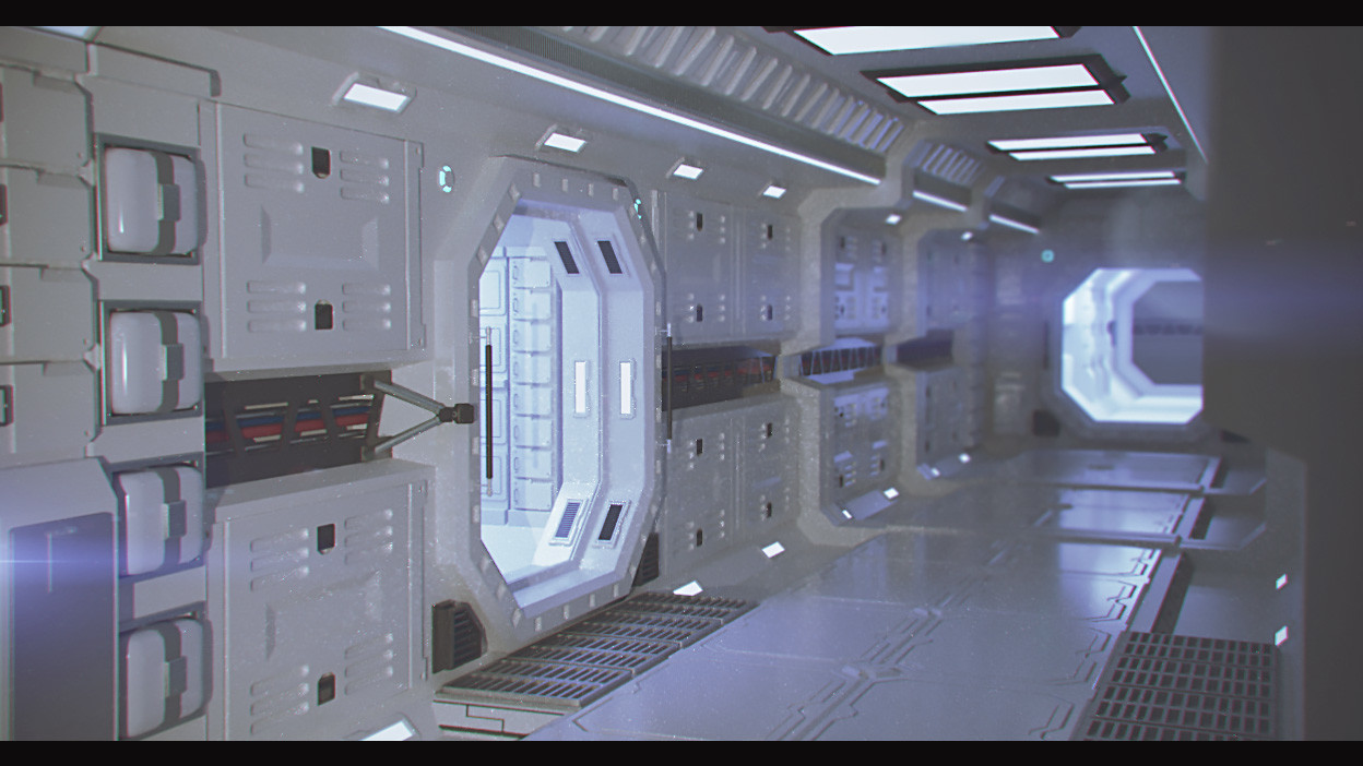 artstation space station interior arnyll dale gacusan. Black Bedroom Furniture Sets. Home Design Ideas