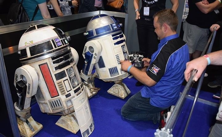 Here is the real droid and Stuart Bone the R2 builder.