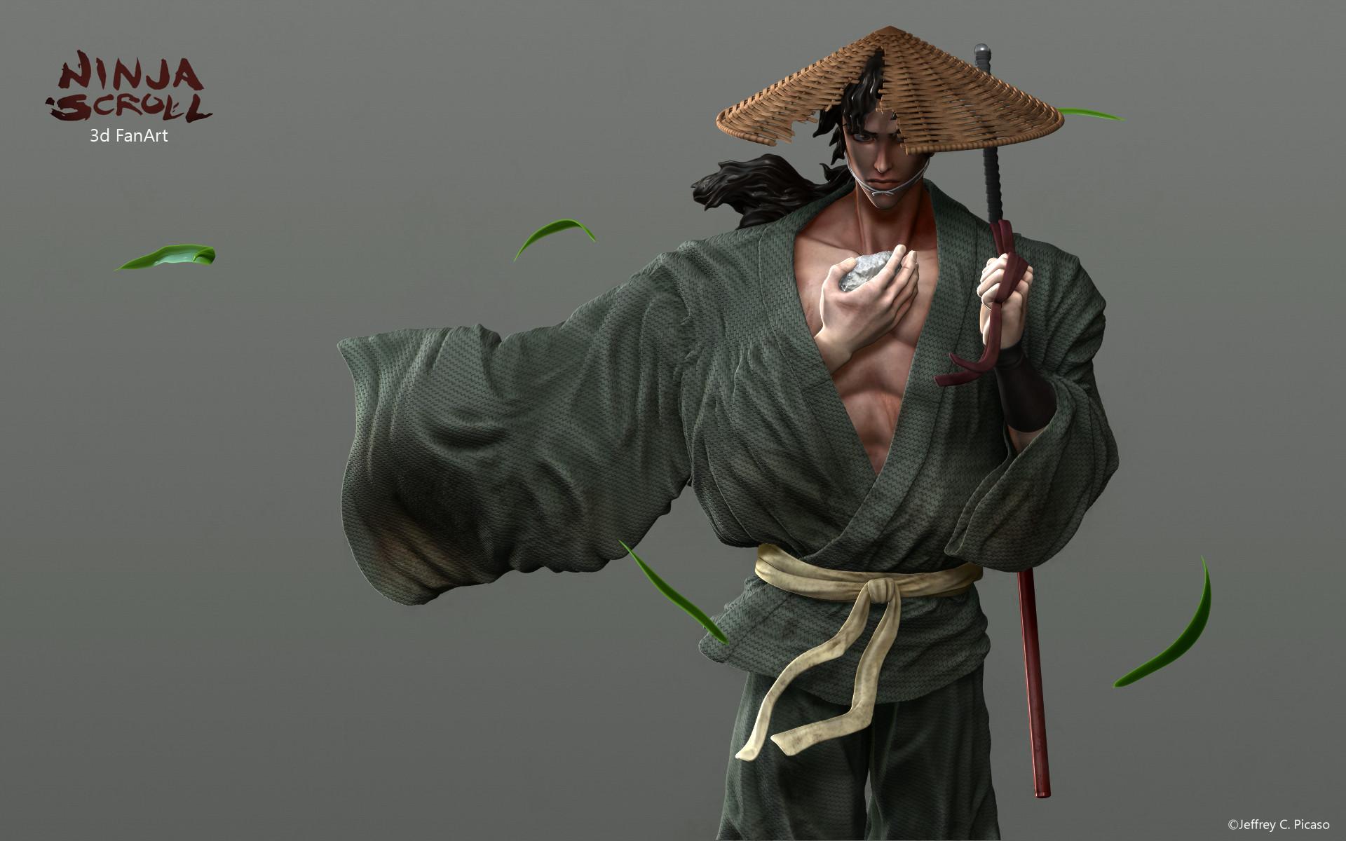 Artstation Ninja Scroll Fanart Jeff Picaso