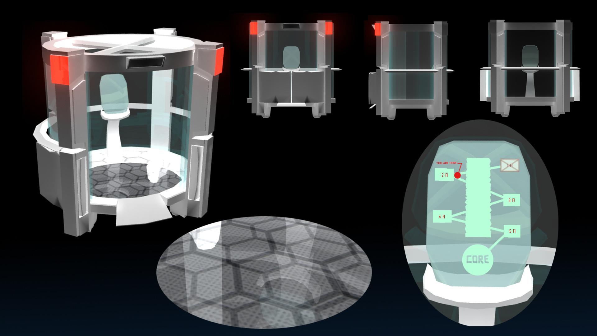 ArtStation - Scifi Elevator, Nina Petchprapa