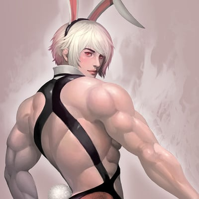 Sanghyun yu rabbit man