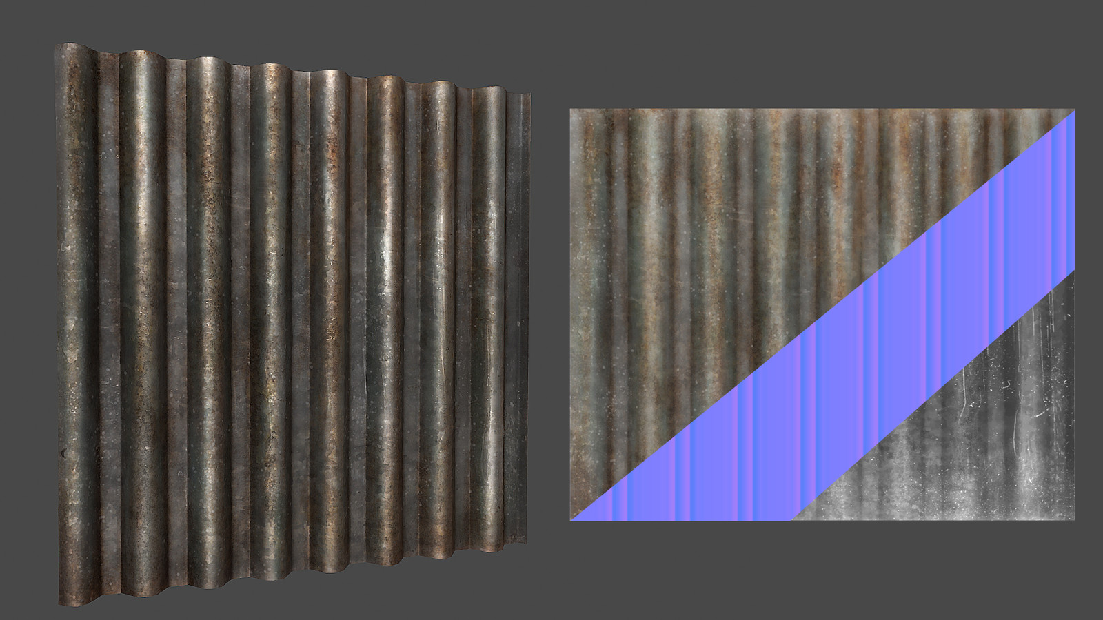 Stylized Corrugated metal texture
