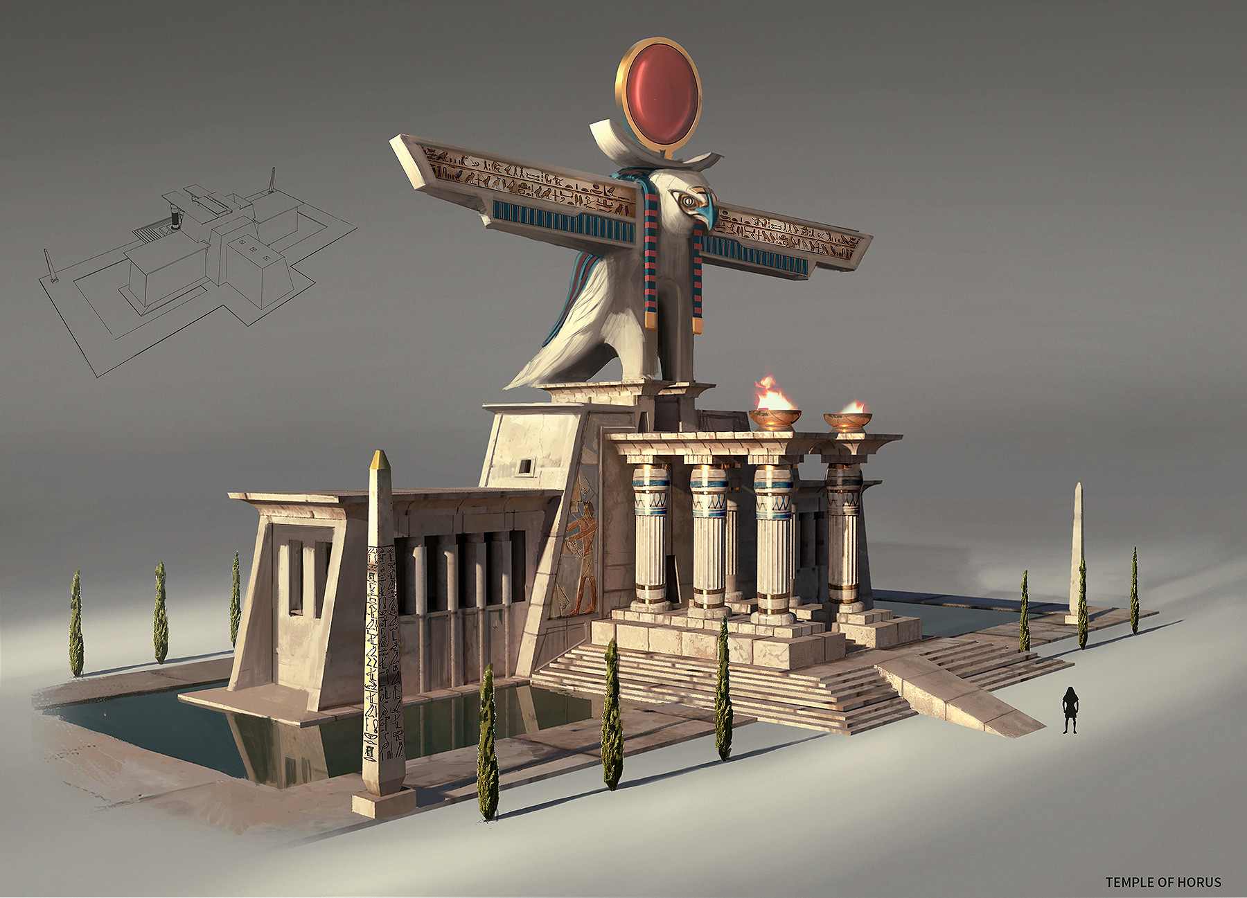 artstation ancient egyptian architecture george johnstone