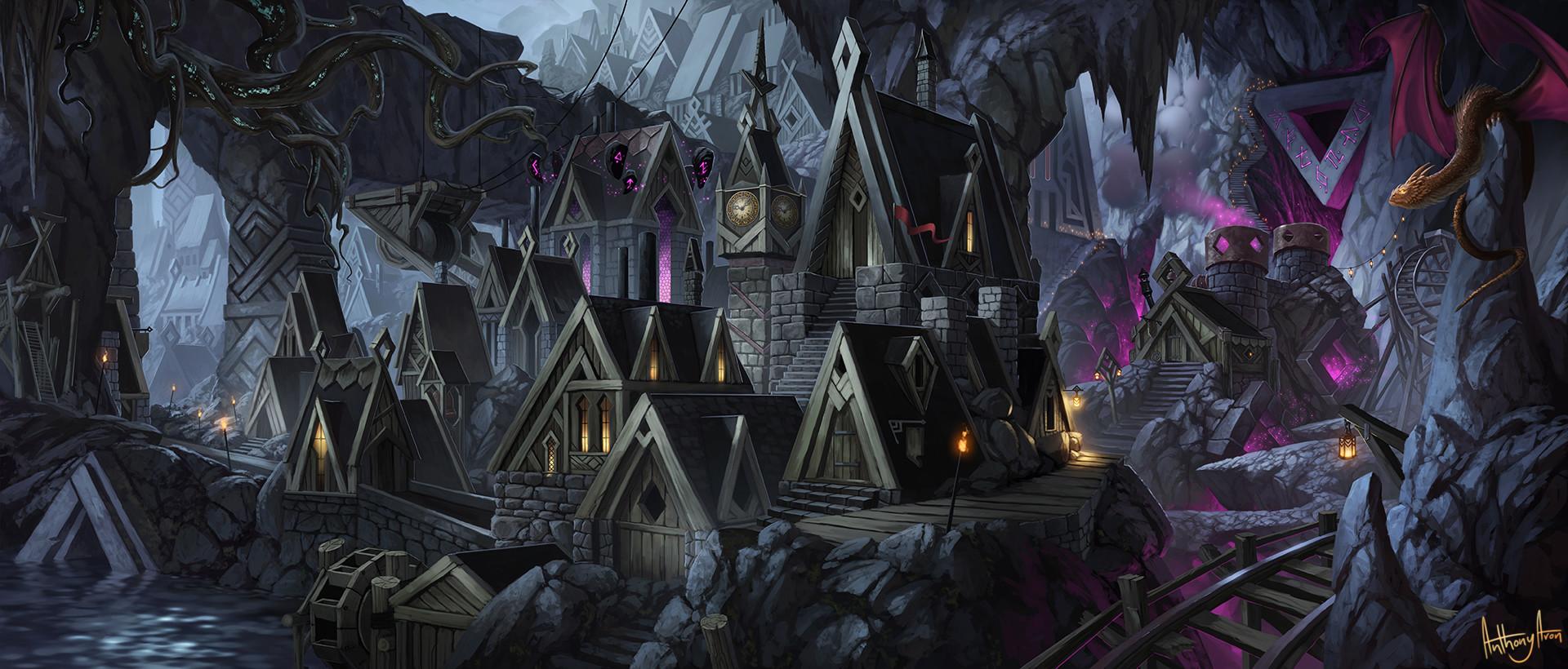 Artstation Dwarf City Anthony Avon