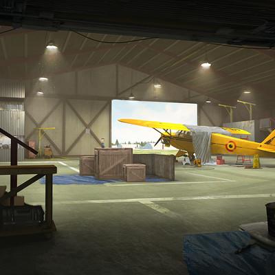 Simeon schaffner hangar interior2