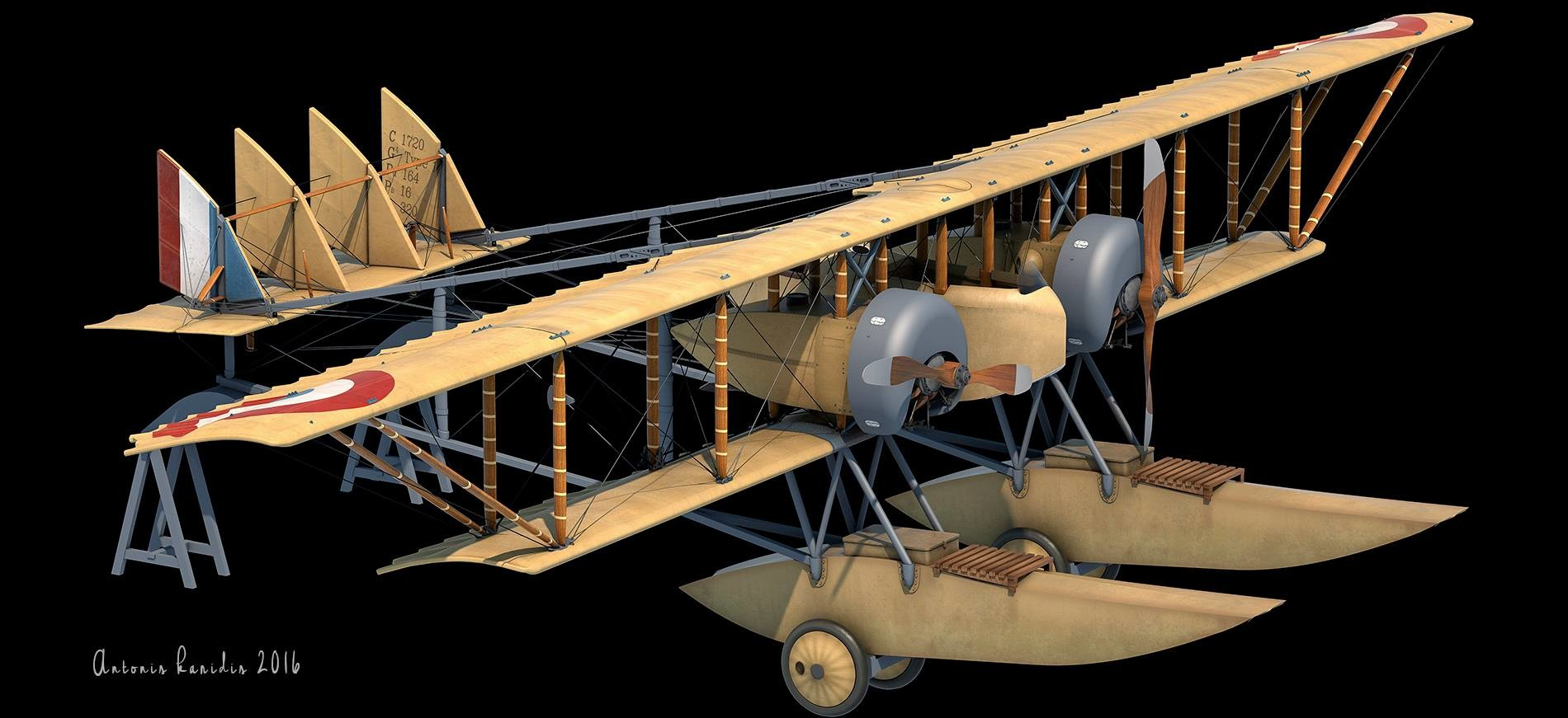 Artstation Caudron G 4 Hydro Wip Model Of A Caudron G
