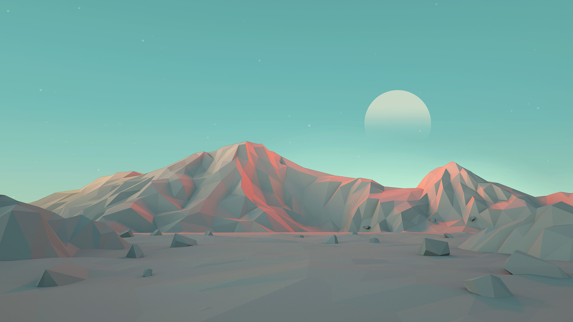 Minimalist Mark Kirkpatrick Low Poly Landscapes