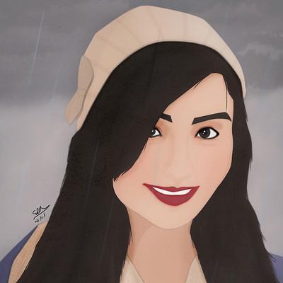 Saman kazemi lida portrait