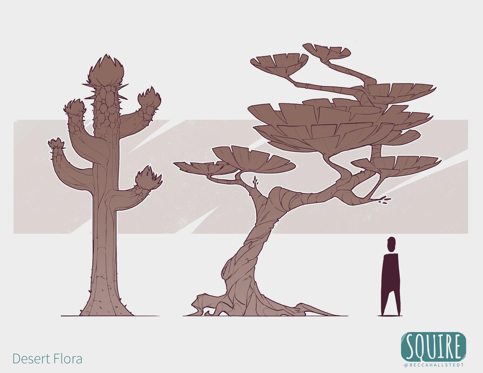 SQUIRE: Desert Biome Flora
