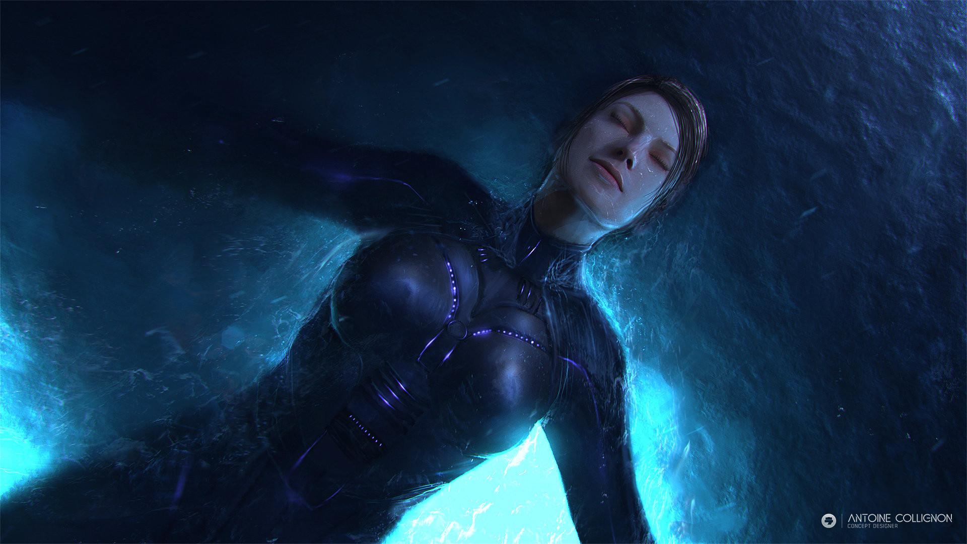 Antoine collignon swiming