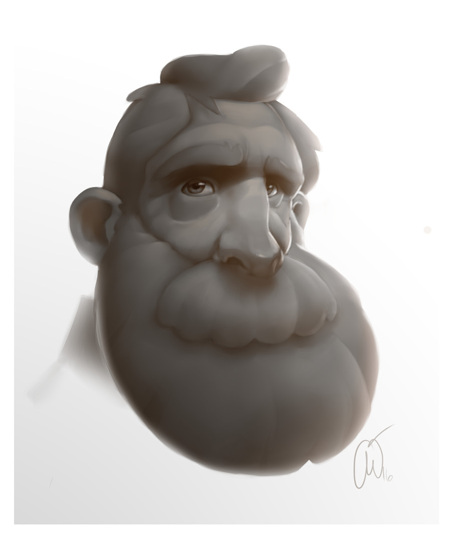 Prelim Sketch working on subsurface scattering and lighting. Didnt like the design so decided to change it up