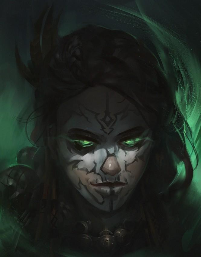Artstation Witch Doctor Girl Rafal Gorniak