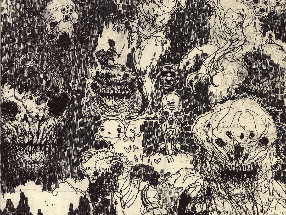 Scott flanders sketchbook dreamsofhyperborea detail