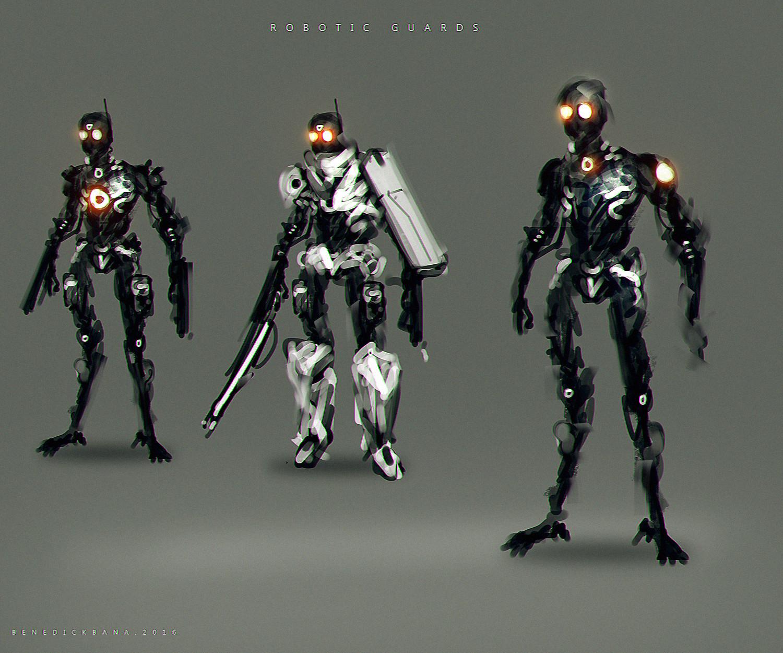 Benedick bana robotic guards lores