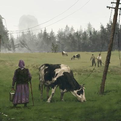 Jakub rozalski 1920 milky way