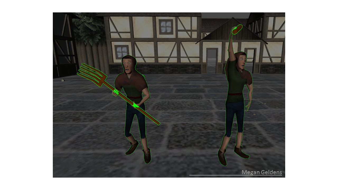 Villageres models  and animations were created by Meghan Geldens.