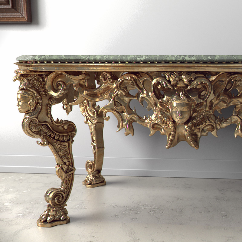 Ornate Table Study