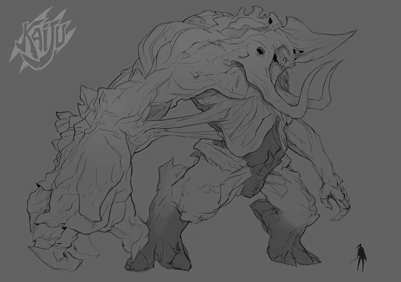Alexandre chaudret kaijus creature predator14