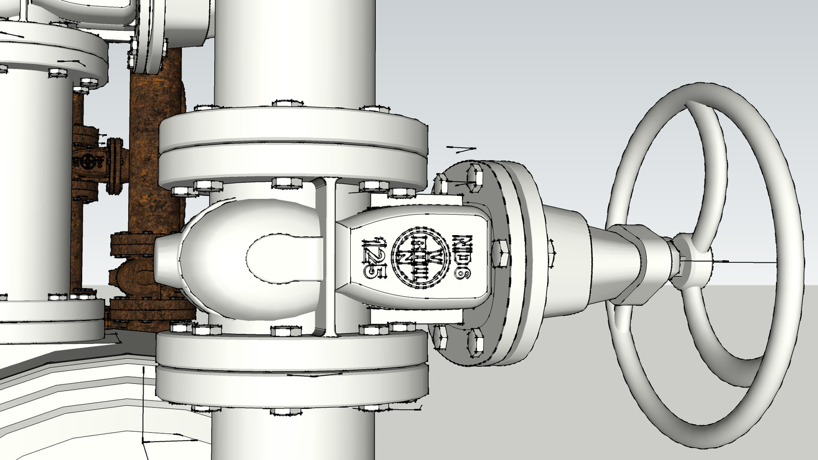 Stainless Steel and Chrome Plated Cast Iron Ventilation and Plumbing.