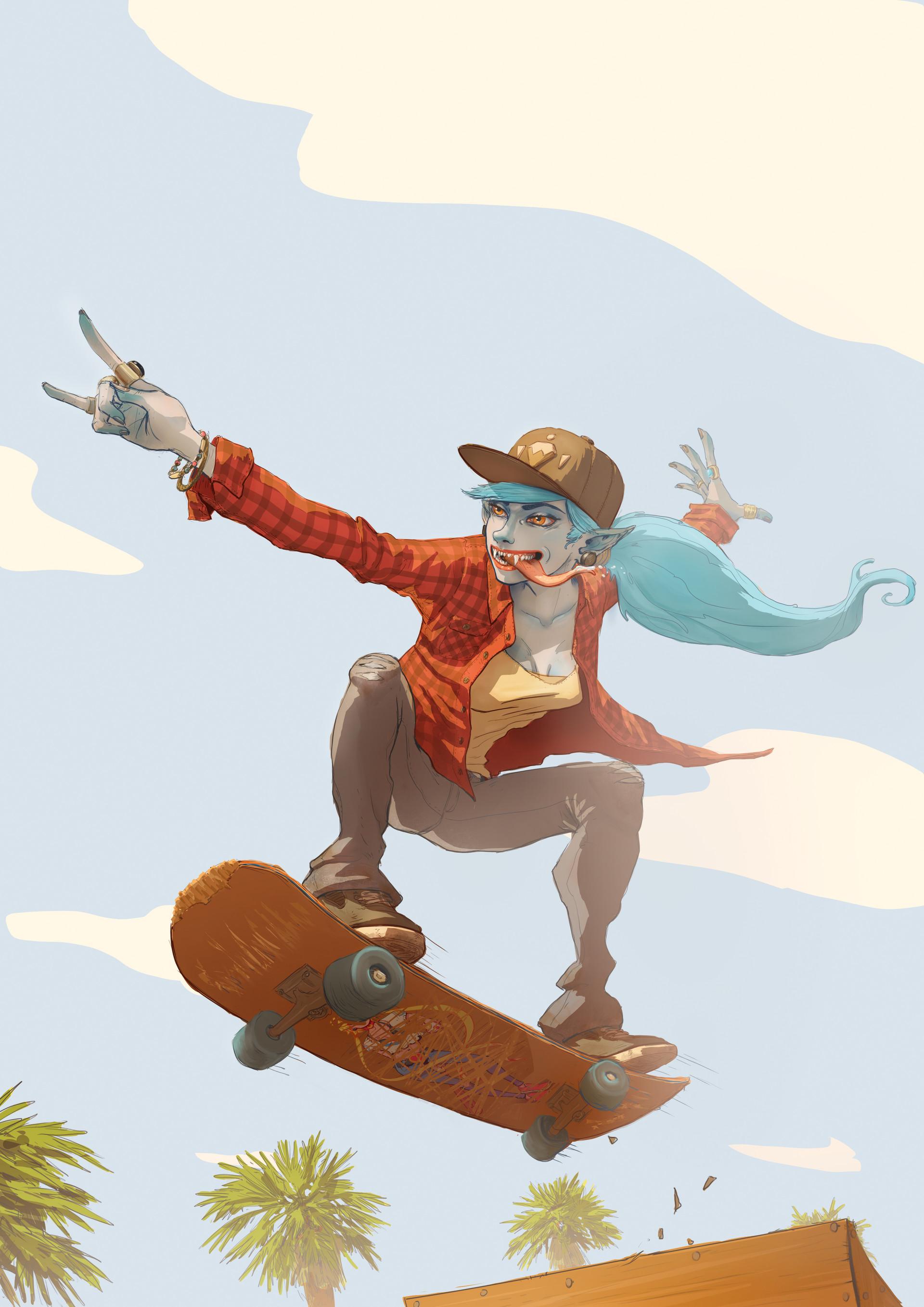 Jean philippe hugonnet skate vampy girl a33