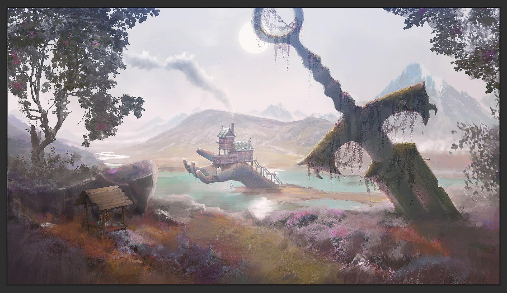 Artstation Another Fantasy Landscape Michael Kelly