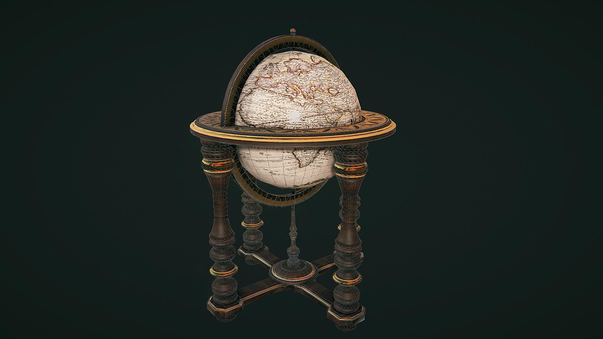 Trevor sedgwick globe wireframe