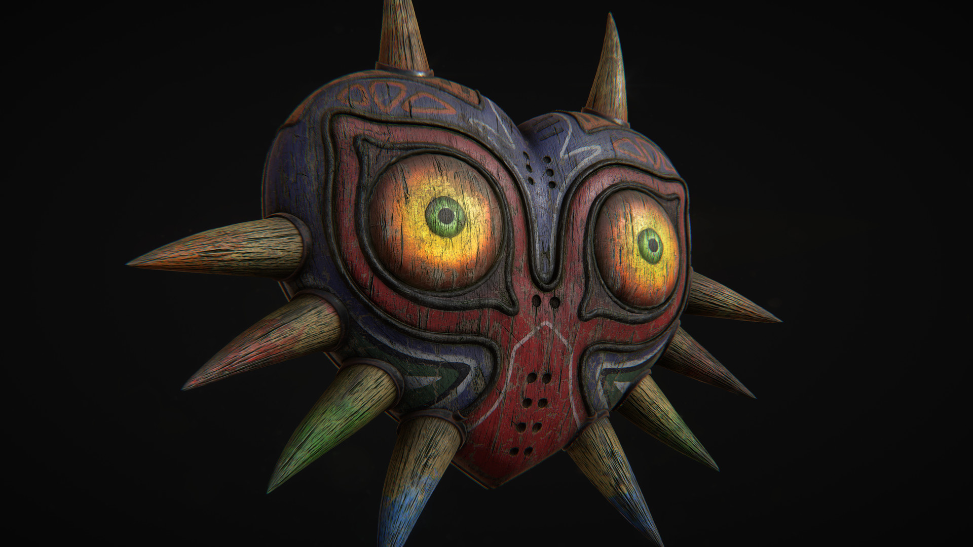 Majoras Mask in Quixel's 3do - front