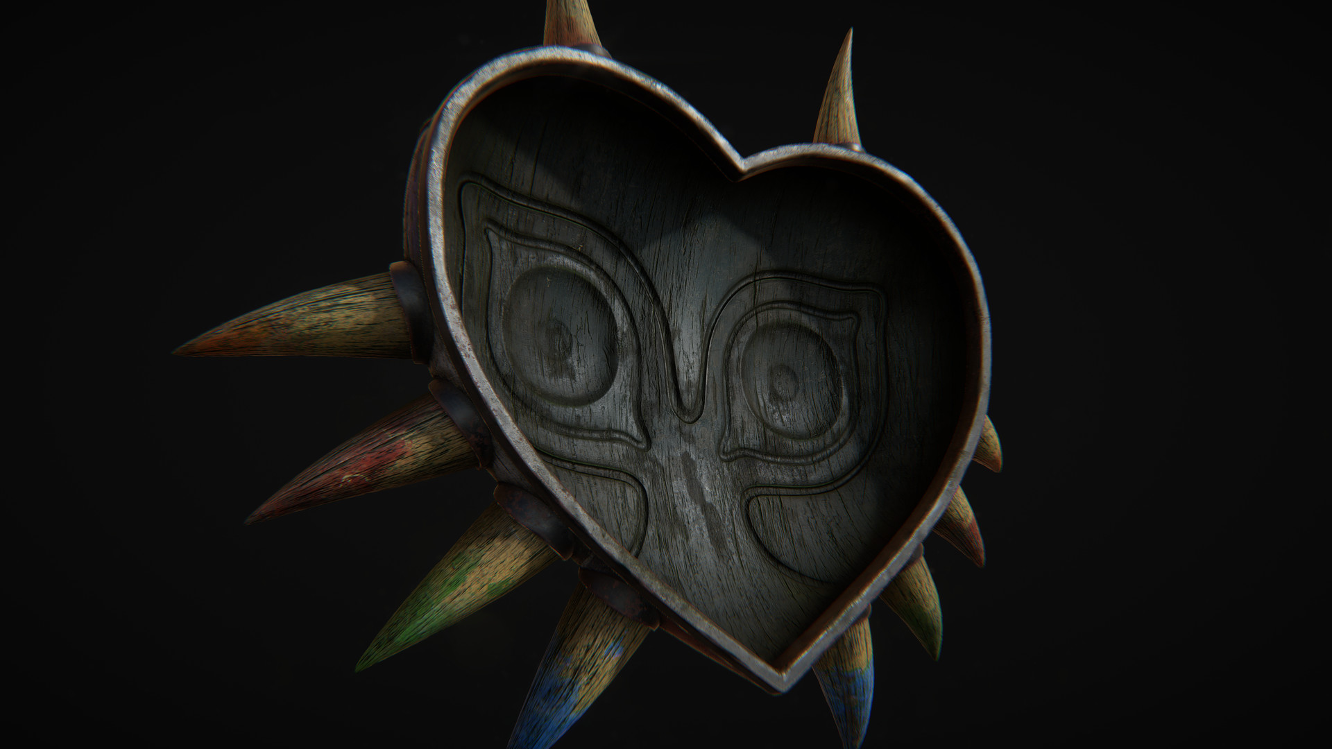 Majoras Mask in Quixel's 3do - back