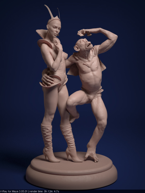 The pair, in pseudo-clay