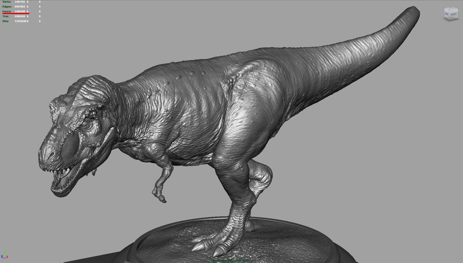 A rex modeled for the Stan Winston challenge