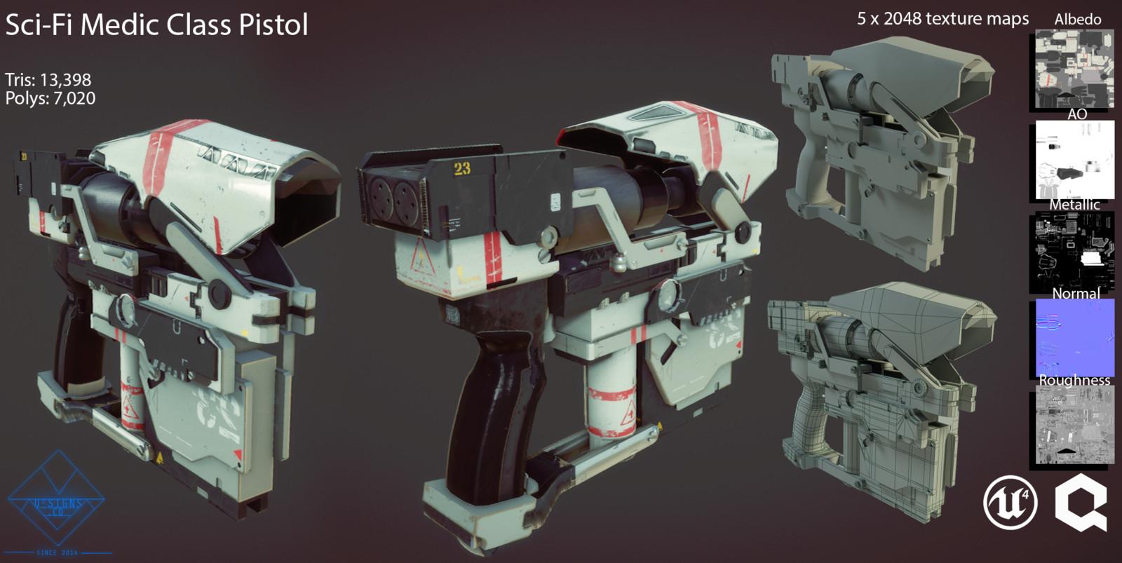 Sci-Fi Medic Gun